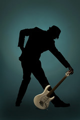 Don't Move (Pennan_Brae) Tags: musician music silhouette vancouver guitar profile thephotographyblog