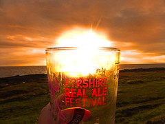 Real Ale Fest (g crawford) Tags: sunset beer glass riverclyde clyde sundown ale crawford realale troon ayrshire bythesea firthofclyde southayrshire ayrshirecoast bytthesea
