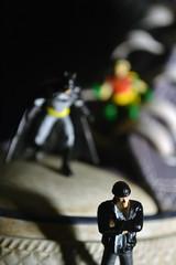 Batman: Pros and Cons (Whistleberry Arts) Tags: macro toys photography miniatures mini batman heroclix macrophotography