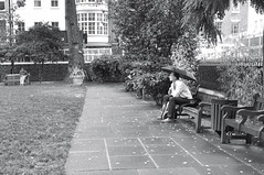 Contemplating at Soho Square