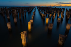 Princes Pier Sunset Melbourne (Derek_Sheerin) Tags: sunset gear australia melbourne places victoria states portmelbourne timeofday princespier 1424mmf28 nikond800