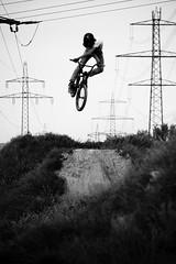 Chrisi Klien - 360 X-Up (lui summer) Tags: park bw sports jump action air 360 dirt framing schwarz drc xup chrisi weis klien altach