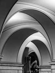 LOC 15 (theqspeaks) Tags: november bw white black fall public reading hall dc washington arch fuji interior library room main great arches books congress national fujifilm loc openhouse libslibs librariesandlibrarians 2013 x100s lcfall2013