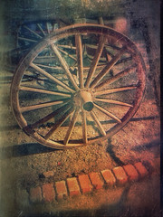 Wagon Wheel (Uncl3xSam) Tags: ocean show california street new old city trip travel family flowers blue trees friends light sunset red party summer vacation portrait sky people urban blackandwhite bw music usa dog sun white lake black flower color macro tree green art love film beach me nature water girl fashion wheel yellow festival museum architecture night clouds vintage square landscape geotagged fun photography town photo concert model nikon raw day unitedstates photos live squareformat waggon iphone iphoneography instagramapp