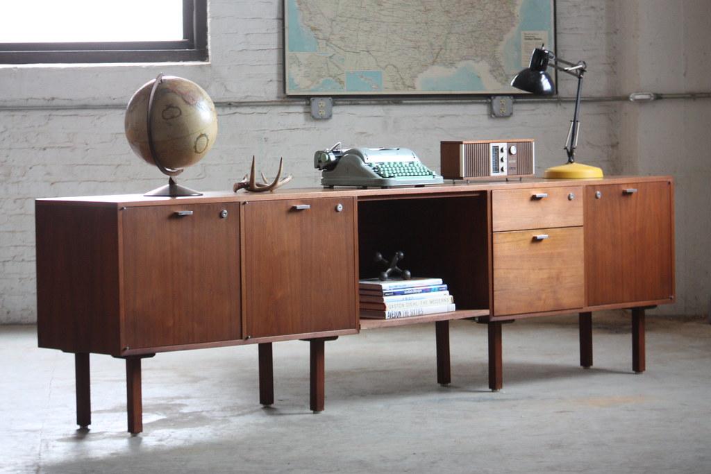 Danish Office Credenza : Danish modern rosewood credenza by dyrlund for maurice villency
