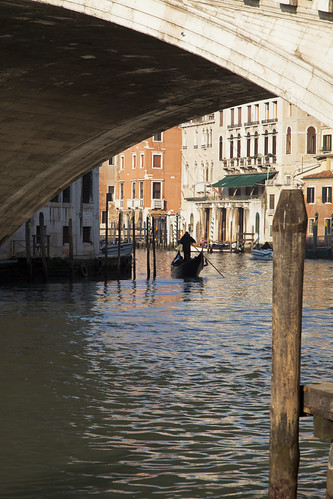 Venice - under the rialto bridge