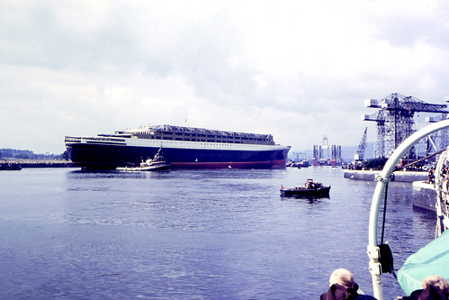 Launch of the QE2 River Clyde 1967