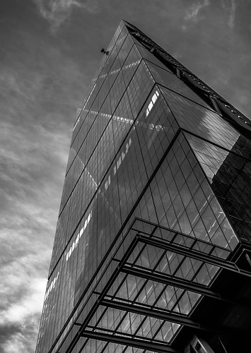 Sky High (42890356@N02), photography tags:  uk windows sky urban blackandwhite bw cloud reflection building london window glass architecture clouds skyscraper