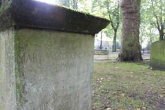 The Mary Wollstonecraft memorial stone. (maggie jones.) Tags: london womens graves frankenstein rights feminist