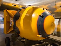 """Fat Man"" atomic bomb (mark6mauno) Tags: man museum nikon force fat air united national states nikkor bomb atomic usaf d4 nationalmuseumoftheunitedstatesairforce nikond4 2470mmf28g"