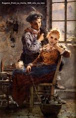 Eugenio Prati La Visita 1895 olio su tela
