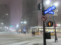 West 34th St in Midtown Manhattan, New York City, USA during winter snow storm (RYANISLAND) Tags: nyc newyorkcity usa snow ny newyork storm cold weather america 14 snowstorm freezing american timessquare snowing storms wintersnow coldweather northeast extremeweather winterstorm noreaster winterweather 2014 snowstorms weatherstorm winterstormhercules