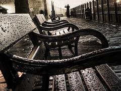 Traitorous Benches in the Rain (tatzlum.photo) Tags: london rain thames night dark bench ghost cobblestone promenade toweroflondon