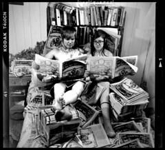 (|Digital|Denial|) Tags: portrait blackandwhite 120 film rural mediumformat magazine paper diy punk ikoflex books tattoos thigh nekkid zeissikon punx shoulder collarbone paf noodz thecountrygrind