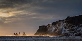 Storm over Reynisfjall