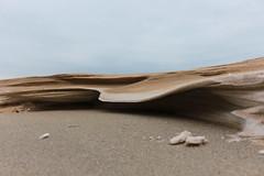 Sandy wave (Pixel Universe Photography) Tags: chicago ice beach closeup frozen sand chocolate michigan freezing lakemichigan freeze sl1 michigancity sworl