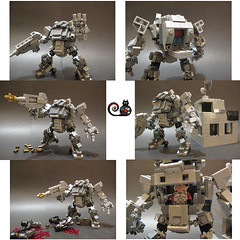 MF-3 Rock Monster (CAT WORKER) Tags: lego military mech moc