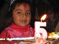 Year Five (dhakalmira) Tags: birthday pink nepal baby cute girl beautiful beauty cake pie kid flickr candle child sweet five joy innocent happiness pinky celebration enjoy lovely pokhara flicker fifth birthdaybash birthdayblast
