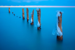 Sticks And Ice (Jo Bet) Tags: longexposure winter cold ice frozen lakemichigan freeze shores chicagoist evanstonil canon5dmarkiii jobetpalmaira canon2470mmf28liiusm