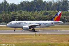 SIN - Philippines Airlines (RP-C8600) (rivarix) Tags: airplane wings singapore aircraft tail airline sin jetengine airways jetplane fuselage a319 philippineairlines singaporechangiairport verticalstabilizer airbusa319100 narrowbody singleaisleaircraft