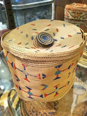 "SUPERFINE ATTU BASKET WITH RUSSIAN SILK-THREAD DECORATIONS, BASHED. • <a style=""font-size:0.8em;"" href=""http://www.flickr.com/photos/51721355@N02/12798545334/"" target=""_blank"">View on Flickr</a>"