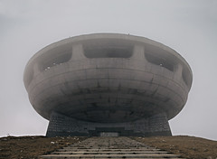 Space Age Monolith (Subversive Photography) Tags: longexposure mist monument fog clouds concrete ruins decay urbandecay communist bulgaria urbanexploration soviet socialist monolith derelict urbex buzludzha danielbarter