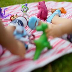 Toy Story Picnic (5hens) Tags: summer fun spring picnic toystory caroline saige americangirl saddleshoes 5hensandahowardbird 5hensandacockatiel
