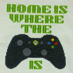 Home is where... (Cross-stitch ninja) Tags: crossstitch embroidery xbox videogames geekcrafts