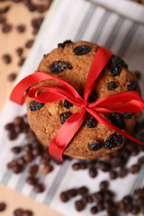 cookie and coffee (pylypchuk1976) Tags: above red food white color coffee dark dessert photography baking wooden still cookie shot state image sweet chocolate background group large seed objects front stack full gourmet biscuit domestic fabric snack meal carbohydrate ribbon shape utensil ingredient morsels
