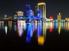 Jacksonville, FL Skyline at Night (army.arch) Tags: city reflection skyline night river downtown florida jacksonville fl
