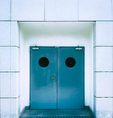 door 2410 (orikanovich) Tags: door puerta blue azul structure architecture arquitectura minimal hole light luz color exit entrada salida