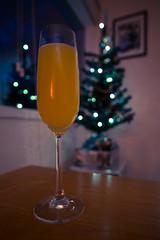 360/366 - Christmas sparkle (Spannarama) Tags: 366 december christmastree lights bokeh christmaslights christmasdecorations bucksfizz champagneglass diningroom home