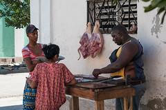 The Butcher (Cienfuegos - Cuba) (PaulHoo) Tags: butcher profession meat cuba cienfuegos people candid streetcandid city urban citylife nikon d700 2015 fat size waiting street streetphotography