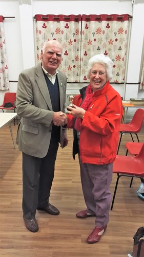 Mrs Penny Slade BEM achieves first at the recent BiB Horticultural Evening for her Lemon Drizzel Cake