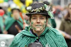 Woman in Green (Frankhuizen Photography) Tags: woman green groeëte rogstaekers optocht weert netherlands 2017 fotografie street straat vrouw lady groen hoed hat vastenavond vastelaovond carnaval carnival photography candid