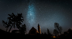 Ain´t it High Time we went (*Capture the Moment*) Tags: 2015 alxing bavaria bayern church fisheye kirche milchstrasse milkyway sternenhimmel stars