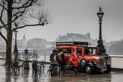 Grey Day (NoVice87) Tags: london red grey wet thames river van