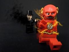 Flash vs Shade (MrKjito) Tags: lego minifig super hero comic comics dc flash shade custom shadow speedforce run