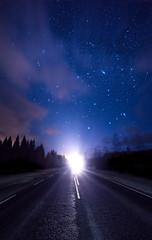 Corners of our galaxy.. (Haapih) Tags: road way highway landscape starscape starpho starphotography astrophotography galaxy night nightphotography nightscape finland suomi iisalmi kiuruvesi