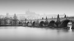 Charlesbridge | Prague, Czech Republic 2017 (philippdase) Tags: prague praguecastle vltava river longexposure formatthitech fineart firecrest foggy charlesbridge bridge praha philippdase pentaxk1 pentax city cityscape