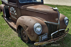 41' Ford -175056 (rjmonner) Tags: ford truck pickup rusted rust relic classic metal iowa midwest grille bumper headlights crank spare tire wheel runningboard hoodornament fender