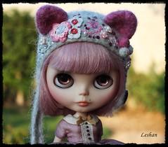 Custom Order for Olivia Framhein (Leshan1) Tags: leshan leshancrochet leshanhat leshanhelmets blythe blythehat blythehelmet hat helmet kitty kittyhelmet lilac order customorder