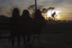 Se marcha la luz, se marcha todo. (KARNATION) Tags: karnation sunset silueta bike bicicleta bench banco