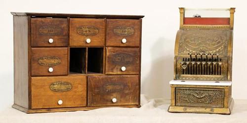 National Cash Register ($756.00), Spice Cabinet ($252.00)