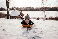 Winter (VisitEstonia) Tags: visitestonia winter sledge kids childrenfun outdoor visit estonia sledding