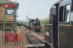 BR(S) at Harmans Cross (Deepgreen2009) Tags: m7 4mt tank crossing passing swanage preserved br black harmanscross southern 1960s purbeck dorset steam railway train uksteam