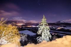 Christmas Tree (seedosip) Tags: nikond7000 france ocieres mountains alps snow starrynight longexposure