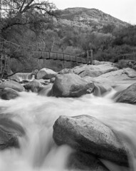Kaweah River (Blurmageddon) Tags: film analogphotography 4x5 largeformat epsonv700 ilford delta100 blackandwhite osakafieldcamera california landscape sequoianationalpark