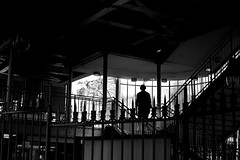 On the stairs (pascalcolin1) Tags: paris13 subway métro homme man escaliers stairs ombre shadow lumière light photoderue streetview urbanarte noiretblanc blackandwhite photopascalcolin