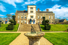 Canons Ashby House (Tony Shertila) Tags: 20170411114544 england uk architecture bedfordshire britain building canonsashby cruise europe nationaltrust outdoor pig unitedkingdom northamptonshire estate manor garden sundial steps topiary tree grass lawn visitors people tourist buildingarchitecture gbr